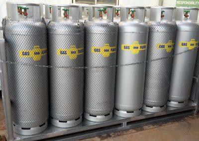silver gas tanks