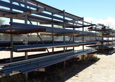 shelf of steel bar