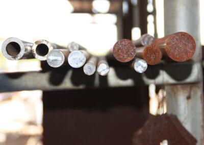 steel pole end